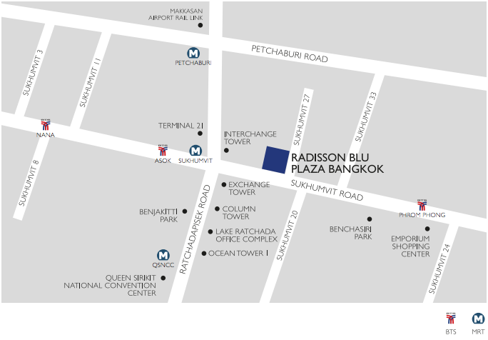 RADISSON BLU MAP
