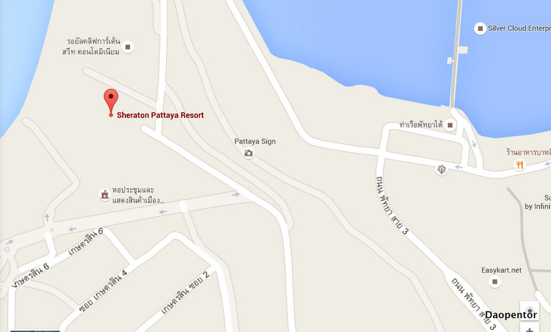 Map Sheraton Pattaya