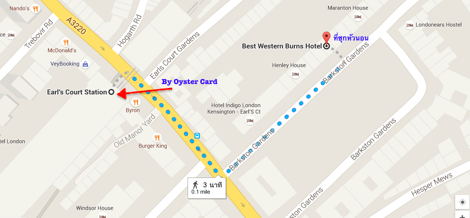 Best Western Burns _London Map
