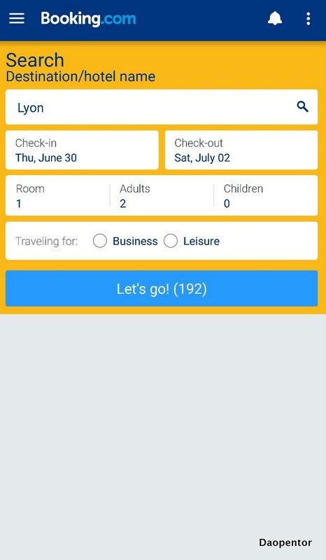 Review App_booking search