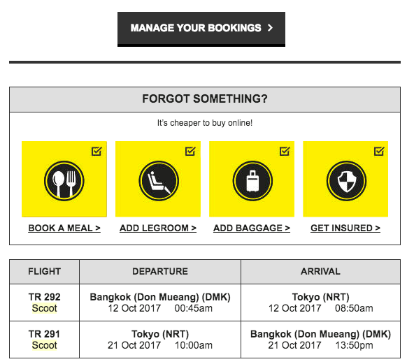 Manage Booking Scoot